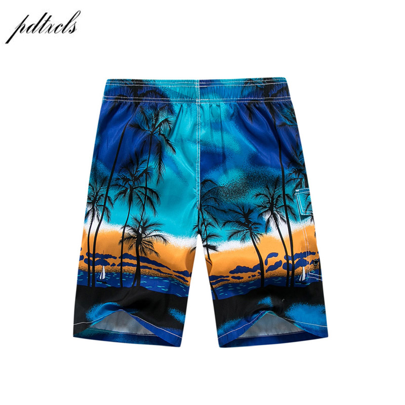 Verão-secagem Rápida Board Shorts Troncos Shorts Da Praia Dos Homens de Moda Impresso Praia Shorts Bermuda MasculinaDe Marca Homme Curto
