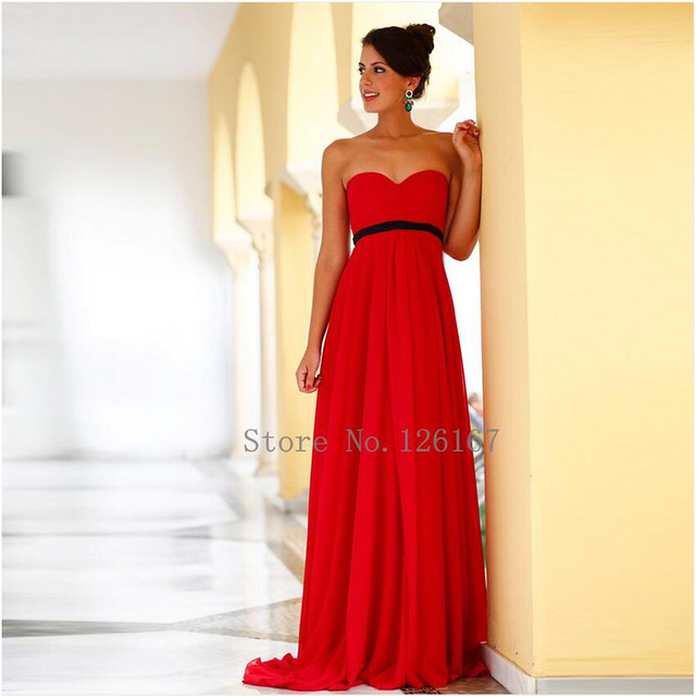 Bu Sexy Sleeveless Red Plus Size Bridesmaid Dresses A Line Maternity