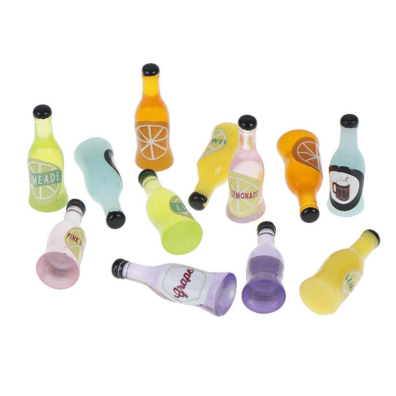 2 cái/bộ Mini Resin Wine Bottle Mô Phỏng Mô Hình Đồ Nội Thất Đồ Chơi cho Con Búp Bê Trang Trí Ngôi Nhà 1/12 Dollhouse Miniature Phụ Kiện