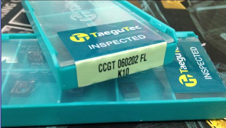 Taegutec carbide turning insert CCGT060202FL K10 wholesale CCGT 060202 FL K10 Clearance Inserts for Aluminum Machining