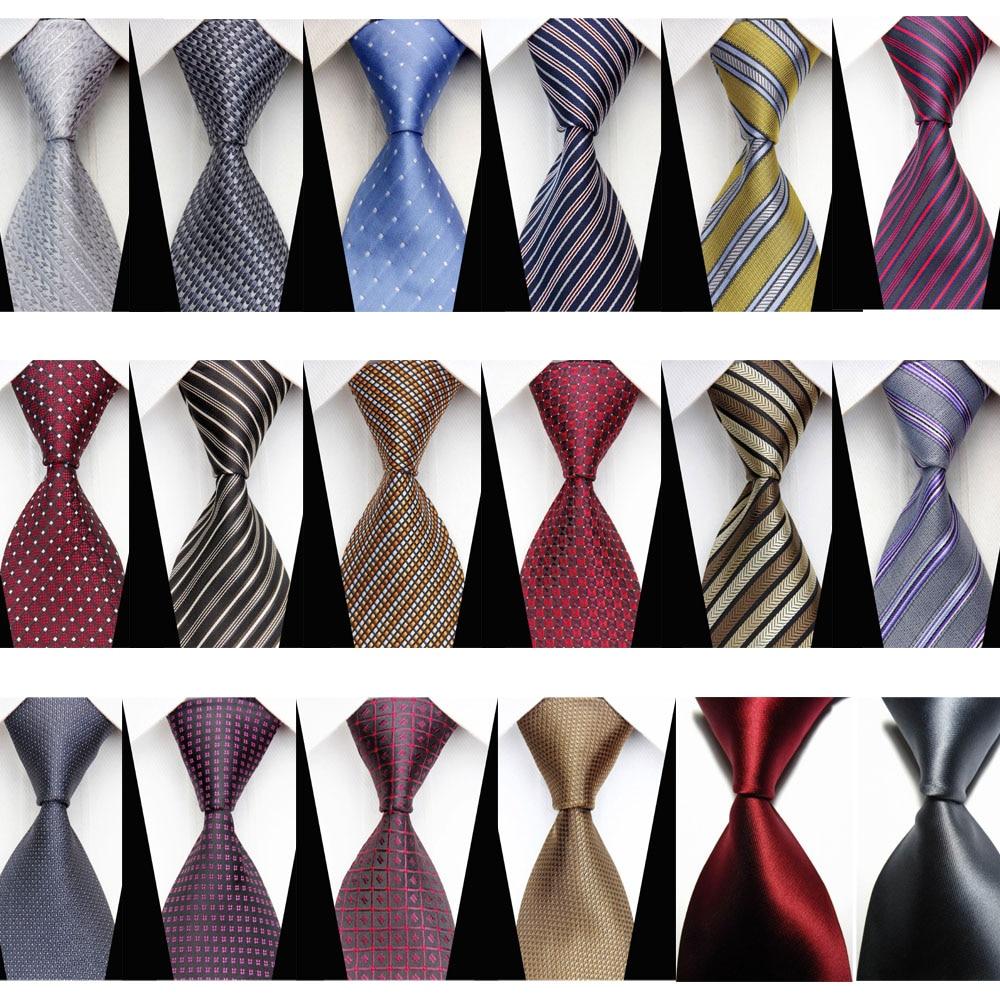 New Classic Striped WOVEN JACQUARD Silk Men/'s Suits Tie Necktie Black Pink N109