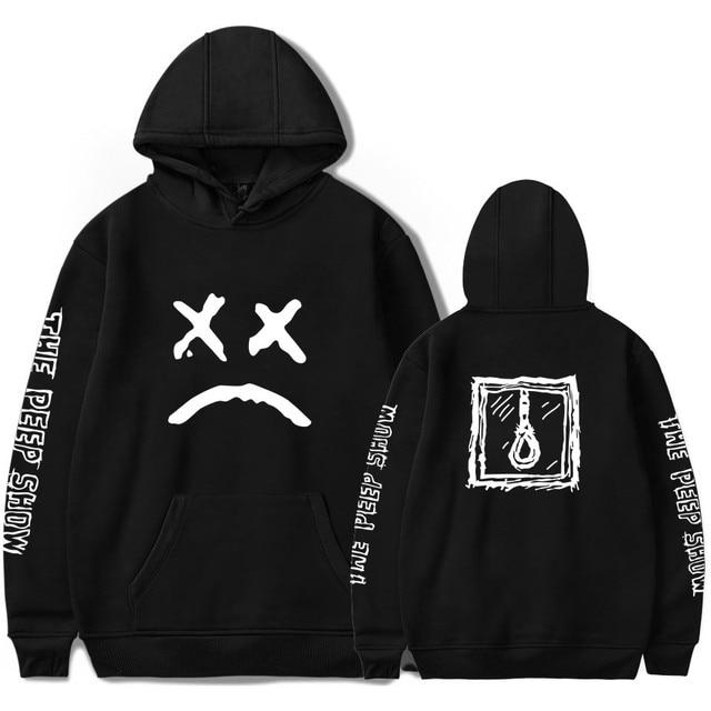 Lil peep grappige hoodies 2018 lil peep gedrukt sweatshirts plus maten voor mannen casual fleece streetwear hoodies cry baby lil peep