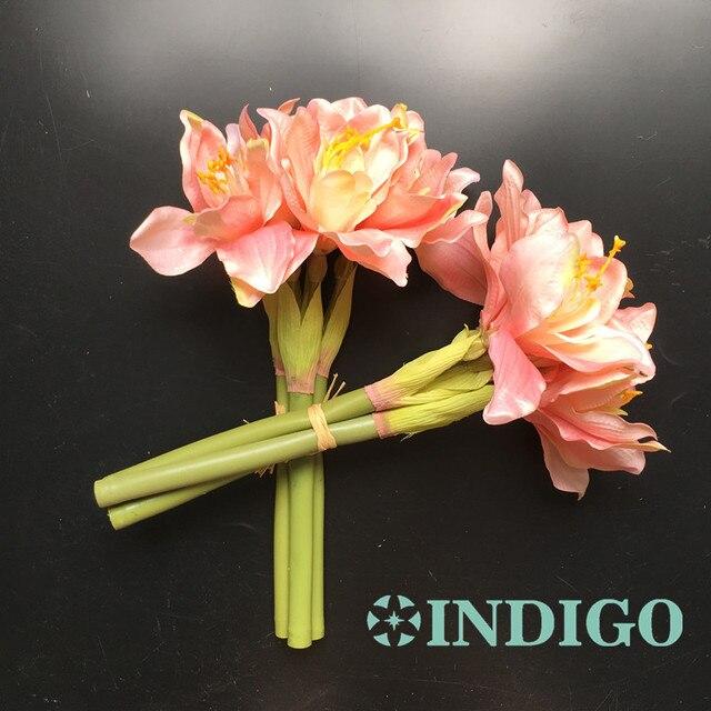 Indigo 3pcslot blue amaryllis orchids bride banquet flower silk indigo 3pcslot blue amaryllis orchids bride banquet flower silk flower wedding party mightylinksfo