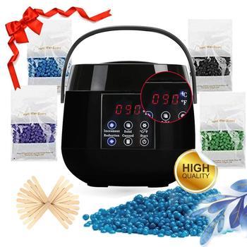 Kit de calentador de cera de pantalla Digital calentador de cera herramientas de depilación máquina de cera de parafina botiquín de depilación cuidado de la piel depilatorio