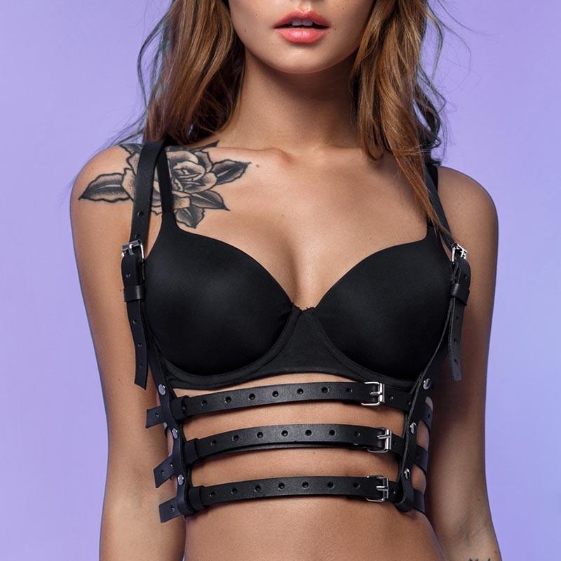 UYEE Трендовое сексуальное женское белье ремень Регулируемый кожаный подвязка для женщин эротический пояс для тела подтяжки жгут LB-007 - Цвет: LB-020