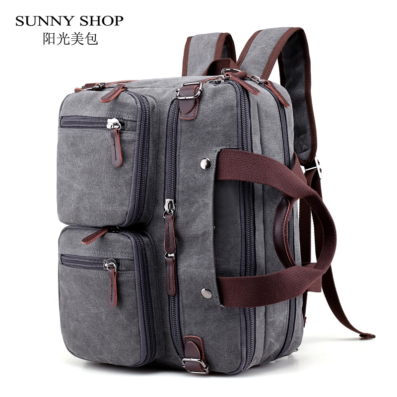 Travel Duffle Vintage Canvas Laptop Backpack Female Multifunction Travel Bag Male School Satchel Large Capacity Casual
