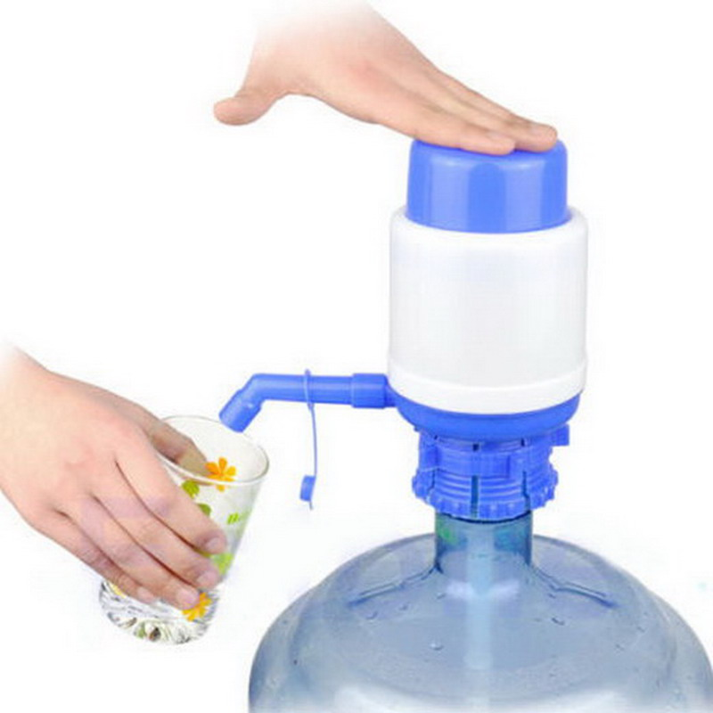 Manual 5 Gallon Bottled Drinking Water Hand Press Bottled Drinking Water Press Pump Dispenser 2016 outdoor indoor VB056 P0.32 image