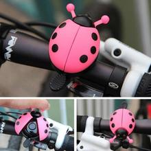 Bicycle Bell Ring Lovely Kid Beetle Mini Cartoon Ladybug For Cycling Bike Ride Horn Alarm Sports Crisp Sound