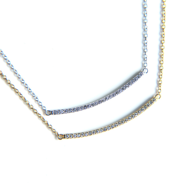 AAA cubic zirconia top quality bar necklace for women