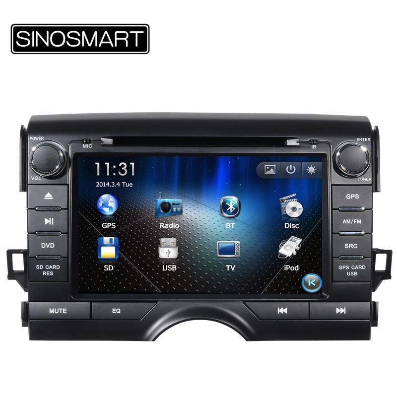 автомобильная аудит sinosmart для Тойота reiz марка x В 2010 - 2011 8.0 ' DVD с GPS навигации радио БТ се / денег / гцк 8 карта