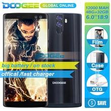 Hızlı kargo DOOGEE üzerinde BL12000 12000 mAh pil 4 GB 32 GB Smartphone telefon 6.0 inch18: 9 FHD + 16MP 4 Kamera Android 7.0