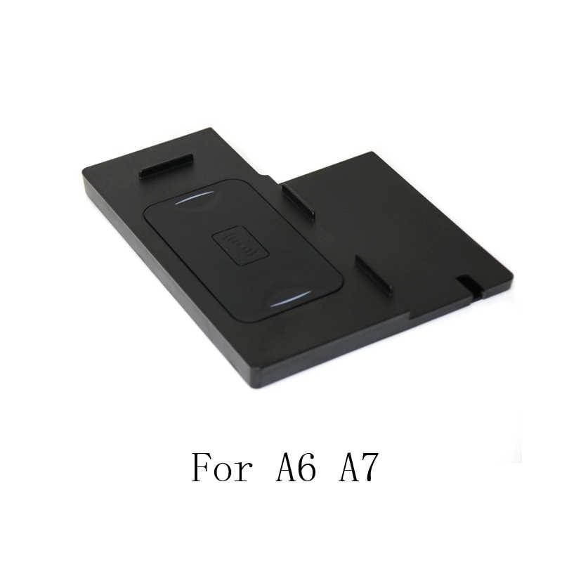 Dla Audi A4 B9 A5 A6 C7 A7 bezprzewodowa ładowarka qi szybkie ładowanie płyta podłokietnik konsoli środkowej etui z funkcją ładowania akcesoria dla