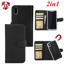YX 2 in 1 Magnetic Detachable Leather Wallet