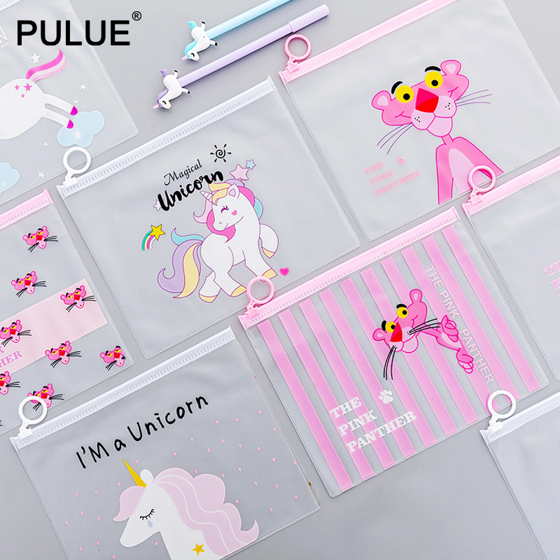Cartoon Unicorns Women Clear Transparent Cosmetic Bag Travel Necessary Wash Toiletry Bag Cute Make Up Case Bath Organizer Pouch