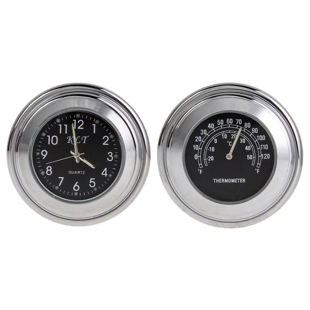 Motorcycle Clock Watch Thermometer Handlebar Handle Bar Mount Clock Watch Instrument Waterproof car-styling