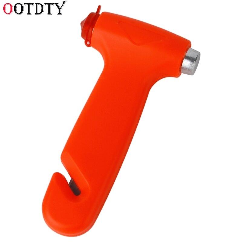 OOTDTY 2 In 1 Car Emergency Safety Escape Hammer Glass Window Breaker Belt Cutter Tool