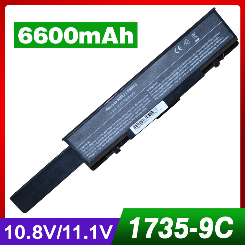 6600mAh battery for Dell Insprion 1737 Studio 1735 1737 312 0711 312 0712 451 10660 451 11259 453 10044 KM973 MT342 PW853 RM791
