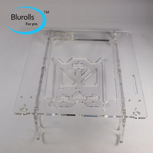 3d printer parts reprap mendel prusa mini i3 laser cut acrylic frame 6mm transparent acrylic plate free shipping