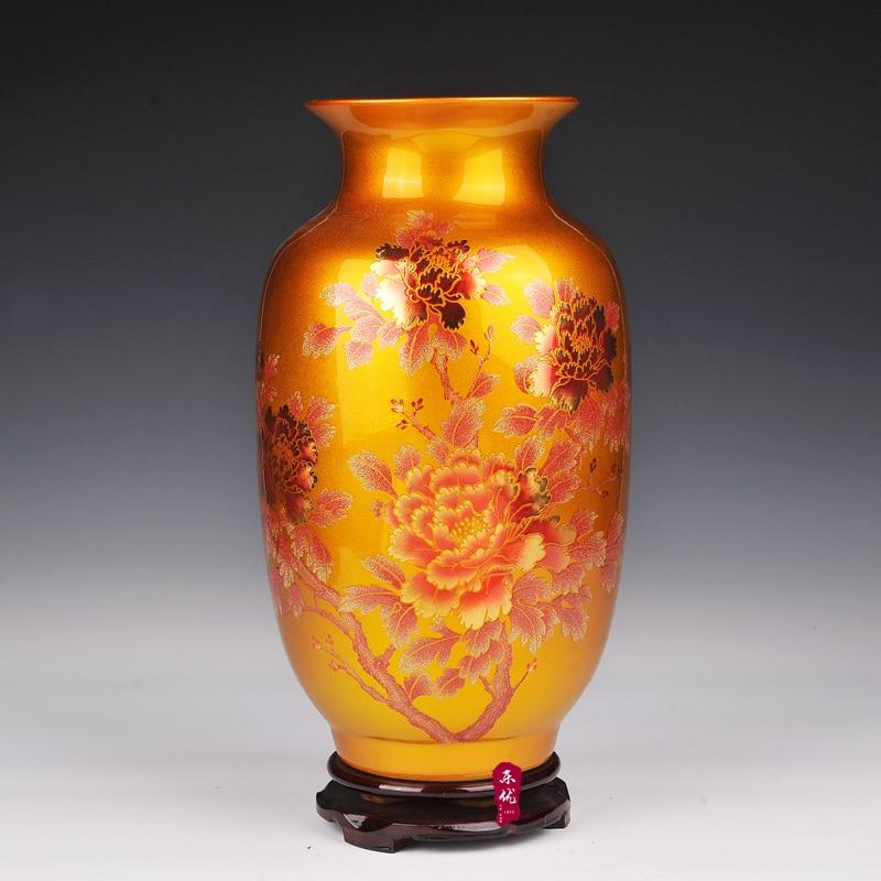Florero chino antiguo de Jingdezhen para la decoración de la boda - Decoración del hogar - foto 4