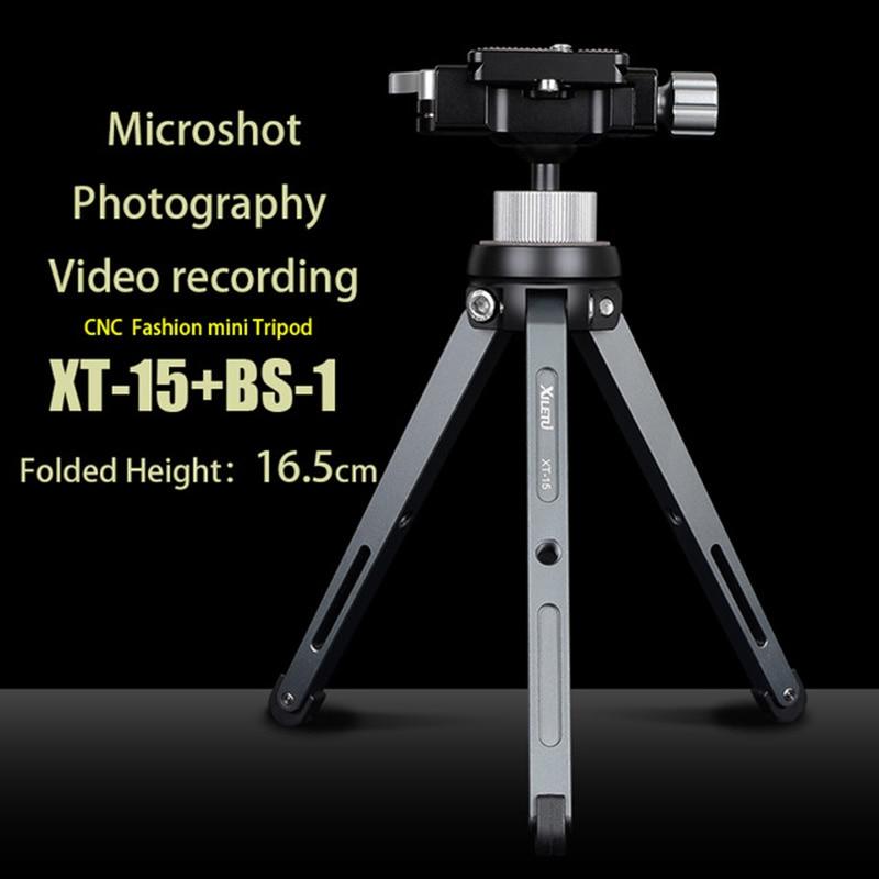 XILETU XT-15 + BS-1 Poulpe Caméra Téléphone Stand Titulaire Léger Table Mini Trépied Pour Smartphone DSLR Mirrorless Caméra