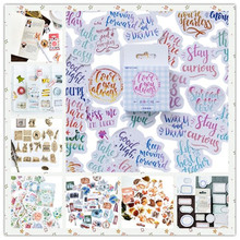 46pcs/pack Kawaii Cute Sticker Mulifunction Notebook DIY Diary Wall Phone Decoration Stickers Scrapbooking 12 Styles Can Choose