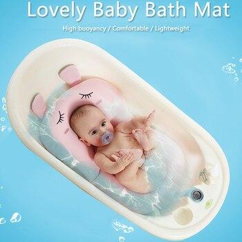 Anti-Skid Baby Bath Mat Foldable Shower Seat Infant Bathtub Lounger Non-Slip Security Bath Pad Newborn Bed Soft Sponge Cushion Activity & Gear