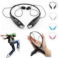 Free Shipping Wireless Stereo Bluetooth Headphone Headset Neckband Style Earphone For IPhone Nokia HTC Samsung LG