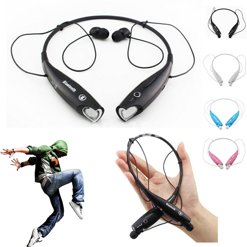 Free shipping Wireless Stereo Bluetooth Headphone Headset Neckband Style Earphone for iPhone Nokia HTC Samsung LG Cellphones
