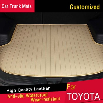Car Trunk Mats for Toyota Camry RAV4 Land Cruiser Parado Highlander Corolla Customized Car Trunk Carpets Waterproof Rugs