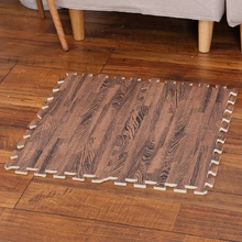 Imitation wood grain EVA foam mat Bedroom 30*30cm children crawling Thicken 12mm rug Non-slip carpet Yoga Splicing