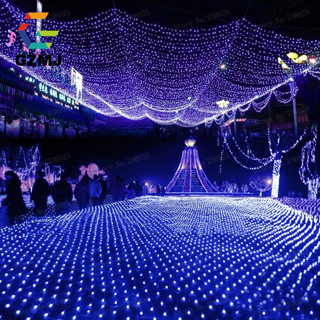 3x2M Fish Net LED String Lights Outdoor Copper Wire Wedding Christmas  Decorations Holiday Indoor Party Park