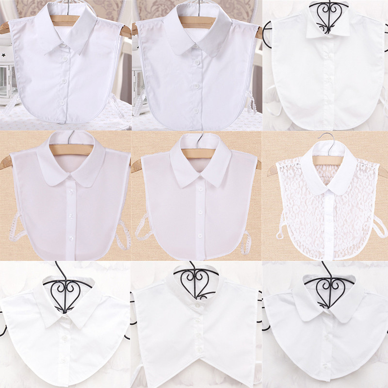 Trendy 16 Style One Size Hollow Out Women Fashion Blouse False Collar Clothes Shirt Detachable Collars Shirt Apparel Accessories