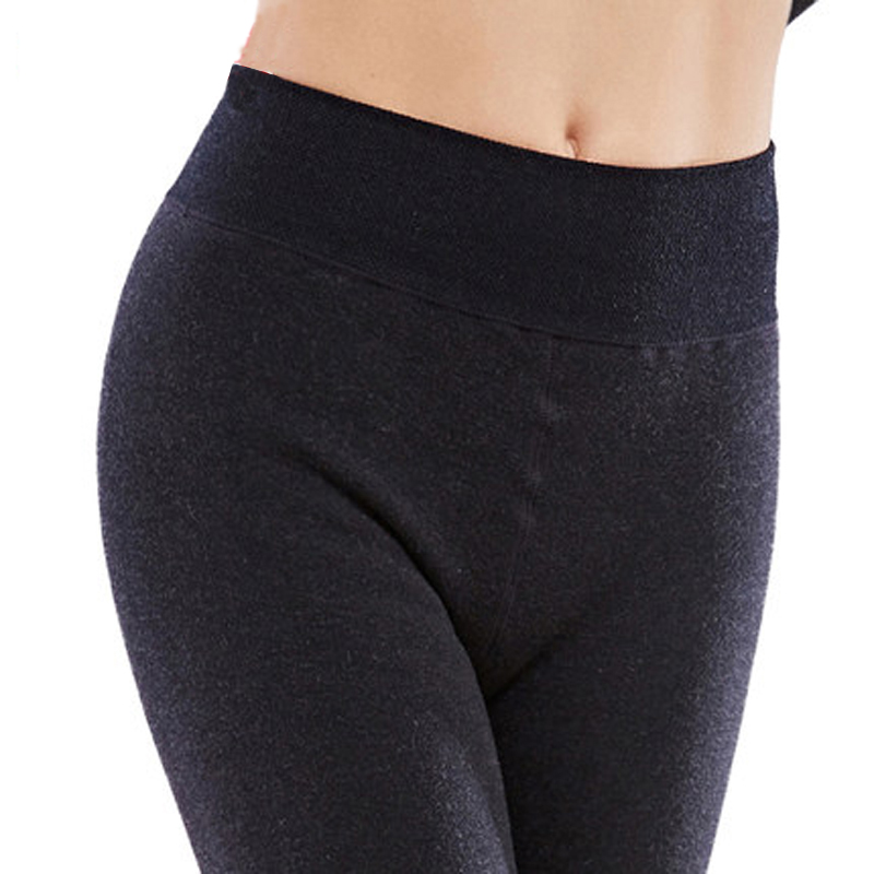 Women's Winter Plus Cashmere Leggings Fashion Big Size Warm Super Elastic Faux Velvet Winter Thick Slim Leggings 4