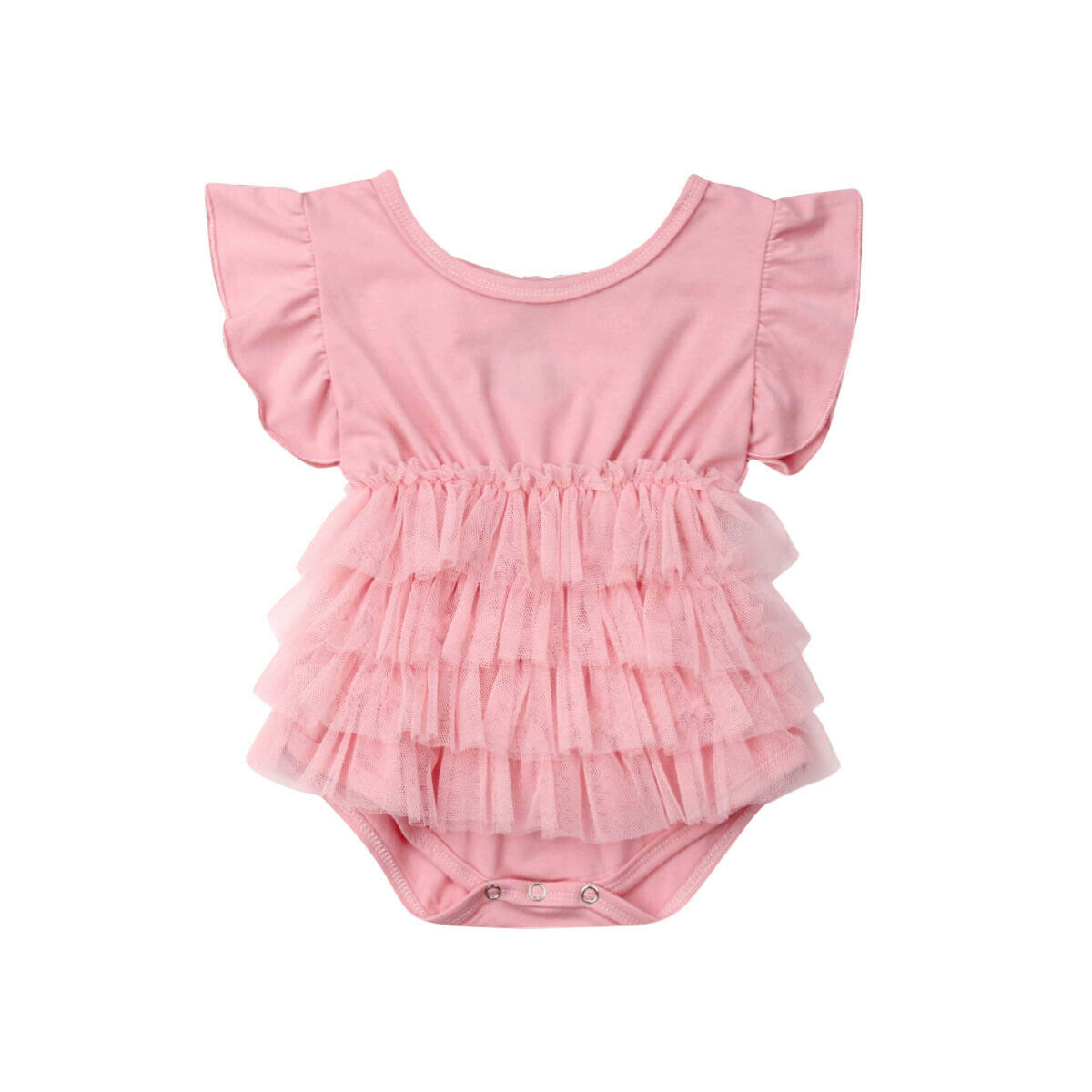 Trucks Rule Newborn Infant Baby Summer Sleeveless Bodysuit Romper Jumpsuits Playsuit