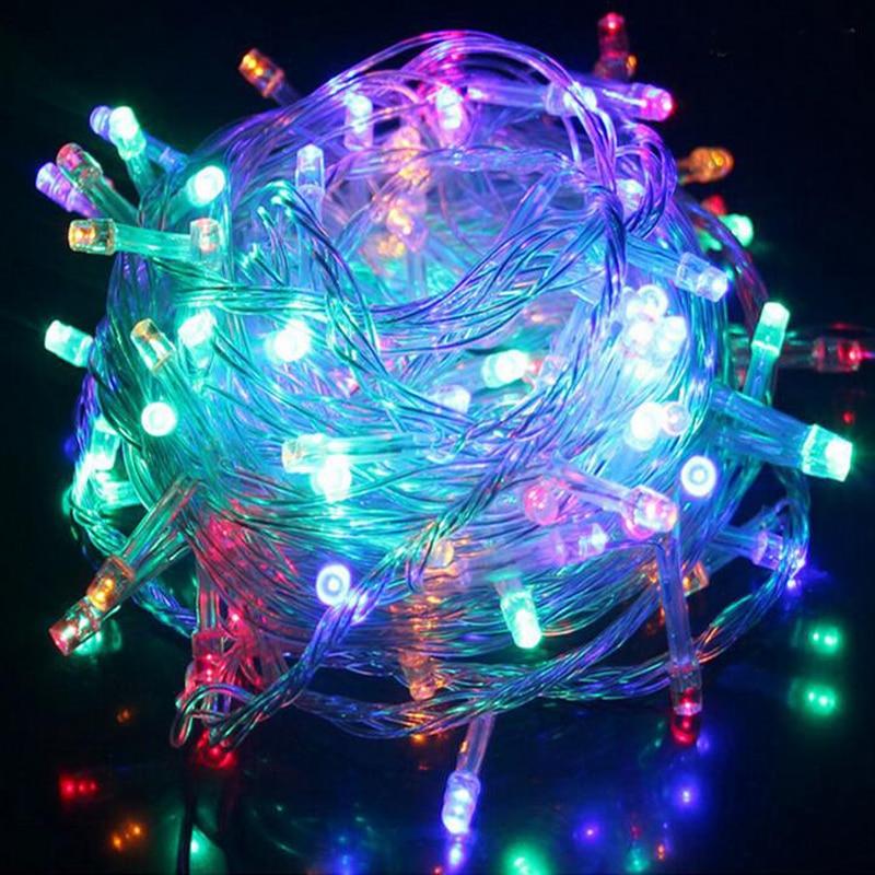 10M 100 Led Strip Luzes De Natal Led Strips Fairy Lamps Indoor Home Lumiere String 220V EU Plug RGB Christmas Light Outdoor 6w 100 led 8 mode 4 color light decorative strip w controller 10m ac 220v eu plug