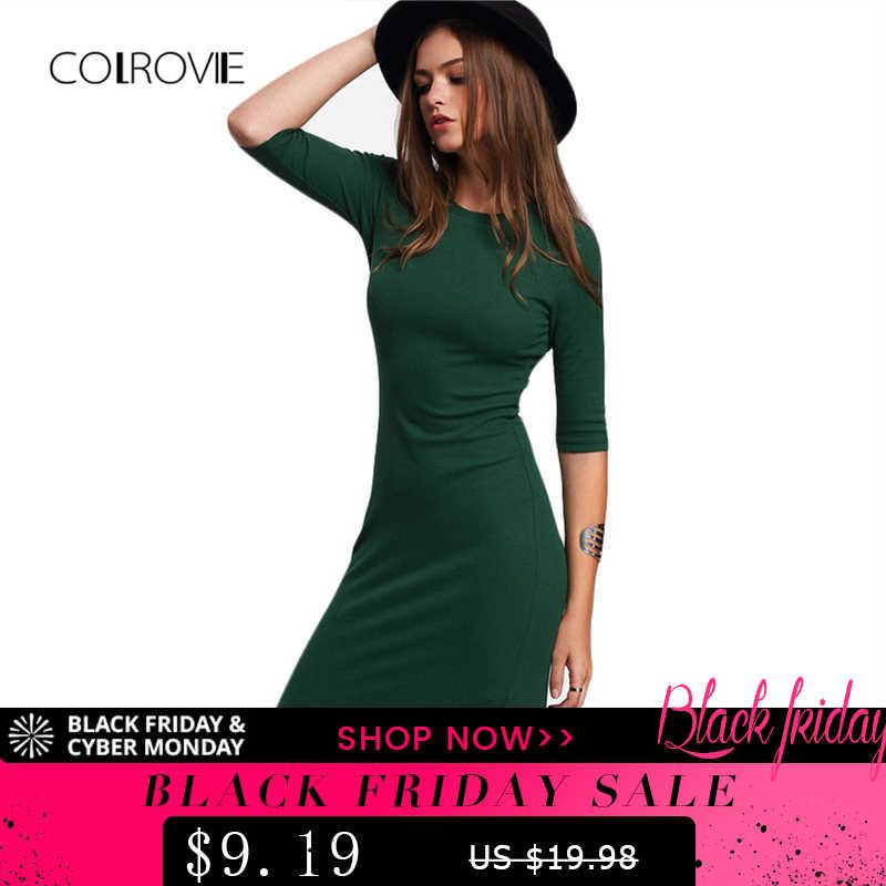 0984b7c4e824565 Подробнее Обратная связь Вопросы о COLROVIE работы Летний стиль для женщин  Bodycon платья для пикантные повседневное зеленый вырез лодочкой Половина  рукава ...
