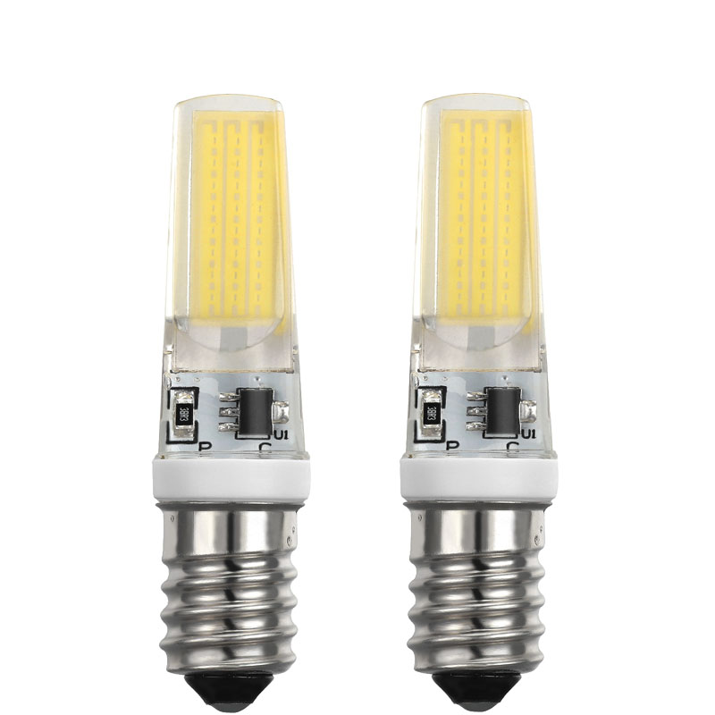 LED E14 Lamp Bulb AC 220 230 240 5W COB SMD LED Lighting Lights replace Halogen Spotlight Chandelier