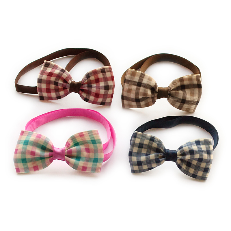 9b2a98523e3f 50Pcs Armi store Handmade Classic Plaid Ribbon Dog Tie Dogs Collar Bow Ties  6031064 Pet Grooming