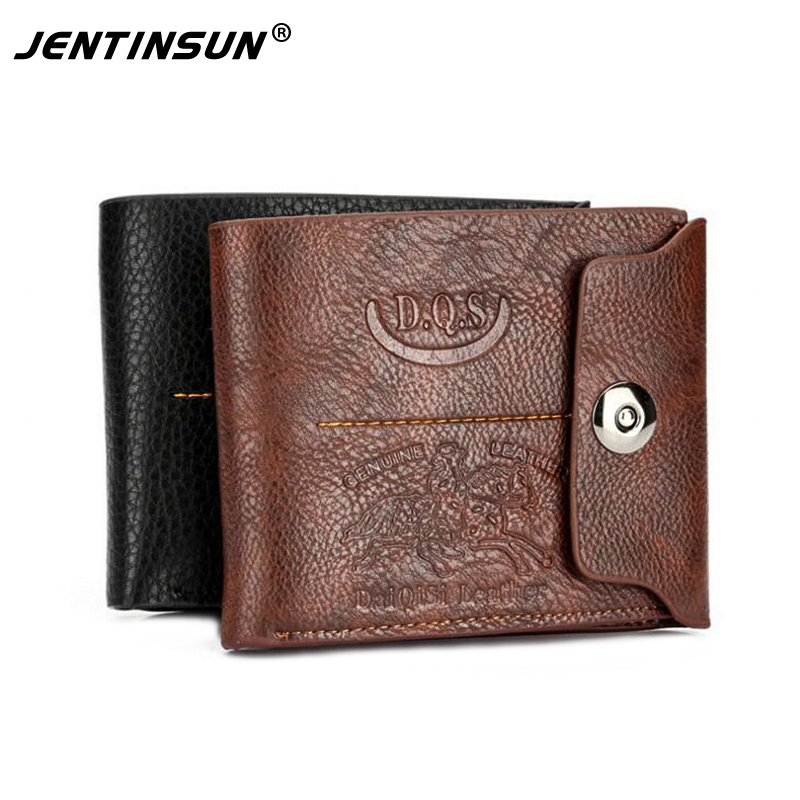 Vintage Short Men Wallet Genuine Leather+PU Male Hasp Purses Card Holder Wallet Men Soft Coin urse Wallets Carteira Masculina baellerry small mens wallets vintage dull polish short dollar price male cards purse mini leather men wallet carteira masculina