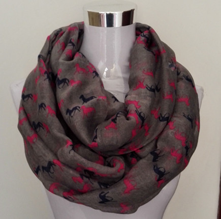 Mini Horses Infinity Scarf | Lightweight Scarves