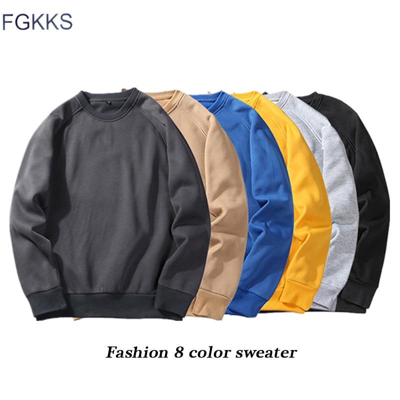 FGKKS Fashion Brand Men Hoodie 2019 Autumn Male Solid Color Sweatshirts Hoodies Men's Hip Hop Pullover Hoodies EU Size