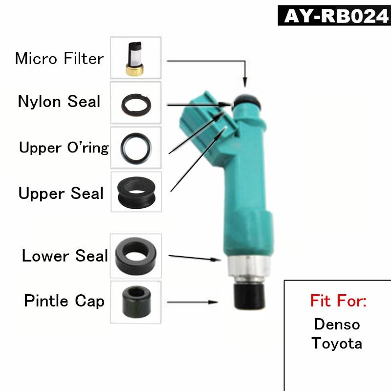 Free ship 10 kits fuel injector repair kits For 232500P030 2320939015 2320939075 TOYOTA LAND CRUISER PRADO 120 V6 4L (AY-RB024) free shipping new carburetor repair kits 2y 3y for toyota liteace 1992 2000