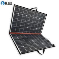 Xinpuguang 140W 70W*2 18V solar panel 100W folding bag charger efficient mono cell + 12V 24V 10A controller + solar blanket