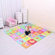 Мультфильм животных узор ковра Пены EVA головоломки коврики-тапочки Пазлы играть коврик для детей Baby играть тренажерный зал ползать коврики