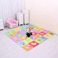 De dibujos animados de animales patrón alfombra de espuma EVA Esteras del rompecabezas niños piso rompecabezas Mat para niños bebé gimnasio lleno de