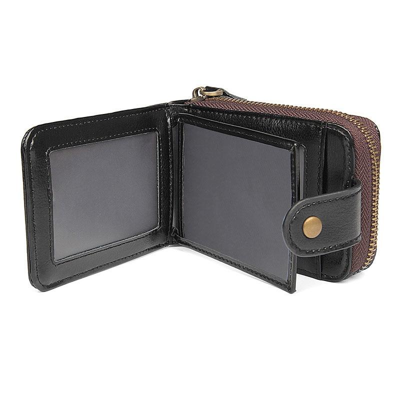Genuine Leather Unisex Business Card Holder Wallet Bank