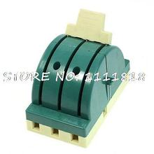 380VAC 63A 3P Double Throw Electronic Circuit Opening Load Knife Switch Green