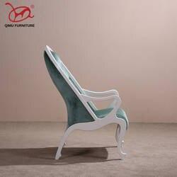Элегантный спинки кресла твердой древесины окружающей среды моделирования кожа стулья для гостиной Высокое качество мебель в стиле ретро