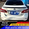 Для Nissan Sentra 2013 до 2017 Высокое качество ABS спойлер заднее крыло праймер или черный или белый или любой цвет