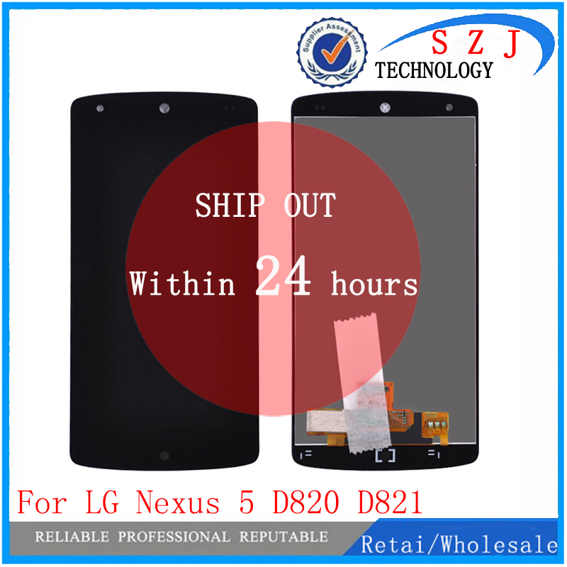 цена Original 4.96 inch For LG Google Nexus 5 D820 D821 LCD Display Touch screen Digitizer Sensor Glass Assembly Black 1920*1080